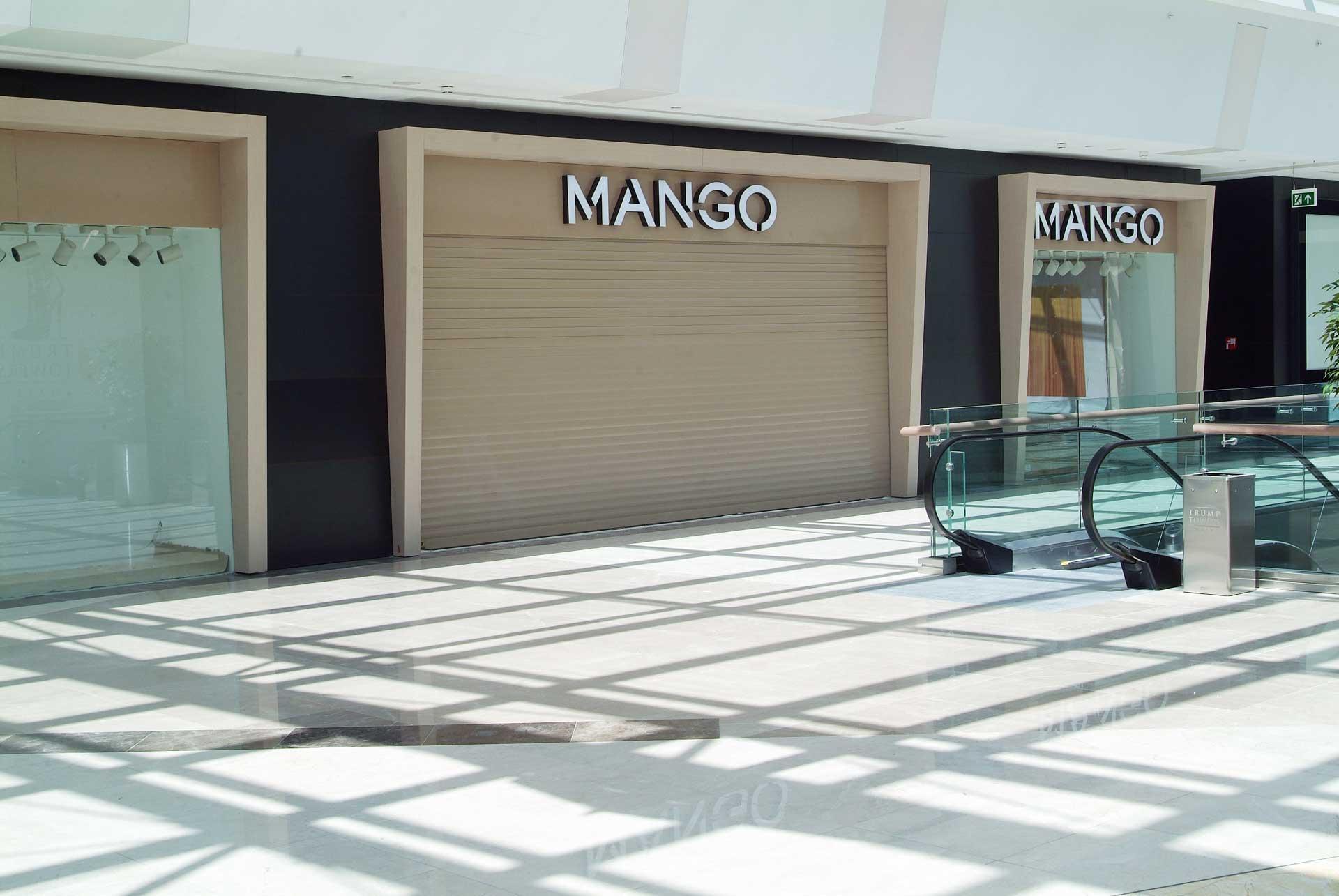 MANGO MAĞAZASI – 77 mm YÜKSEKLİĞİNDE ALÜMİNYUM KEPENK SİSTEMİ