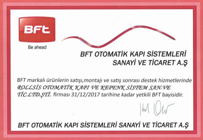 BFT CERTIFICATE