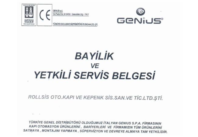 GENİUS CERTIFICATE